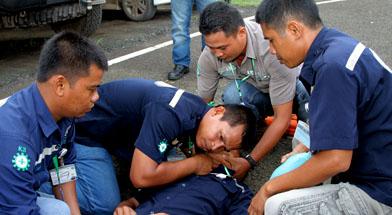 Jhonlin Group, PT. Jhon, h isamlin Marine Lines, Kalimantan Selatan, Batulicin, Pelatihan First aid SHE JG