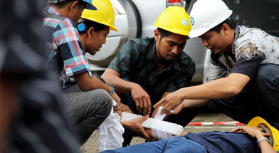 Jhonlin Group, SHE Jhonlin Group, Kalimantan Selatan, Batulicin, First Aid Training, h isam