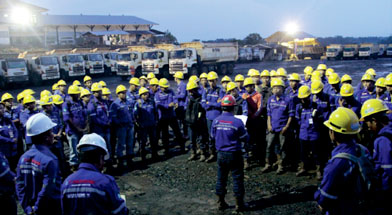 Jhonlin Group, P2H dan Safety talk, PT. Jhonlin Baratama, Kalimantan Selatan, Batulicin, h isam