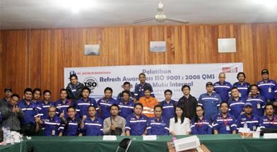 Jhonlin Group, Training Awereness ISO 9001 : 2008, PT. Jhonlin Baratama, Kalimantan Selatan, Batulicin, h isam
