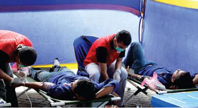 Jhonlin Group, Donor Darah, Senam Sehat, Hari Gizi, Kalimantan Selatan, Tanah Bumbu, Batulicin, h isam
