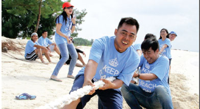 Jhonlin Group, Family Gathering, Keep Calm and beach on, Pulau Sambar Gelap, Kalimantan Selatan, Tanah Bumbu, Batulicin, h isam