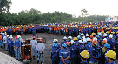 Jhonlin Group, PT. Jhonlin Baratama, Safety Talk, Kalimantan Selatan, Tanah Bumbu, Batulicin, h isam