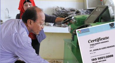 Jhonlin Group, PT. Jhonlin Agromandiri, ISO 9001 : 2008, Kalimantan Selatan, Tanah Bumbu, Batulicin, h isam