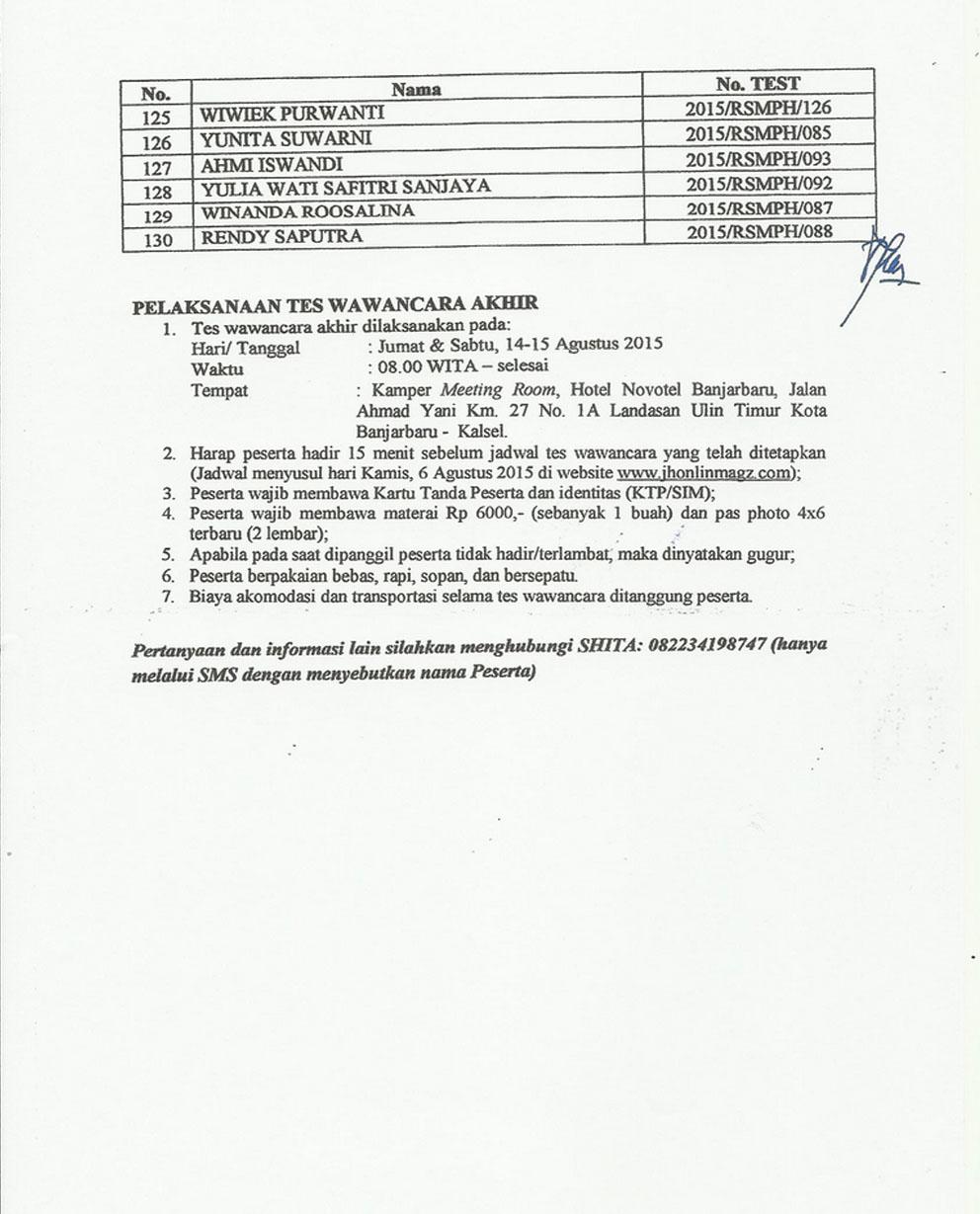 Marina Permata Hospital, Batulicin, Tanah Bumbu, Kalimantan Selatan, Rumah Sakit, PT. Erina Citra Gemilang