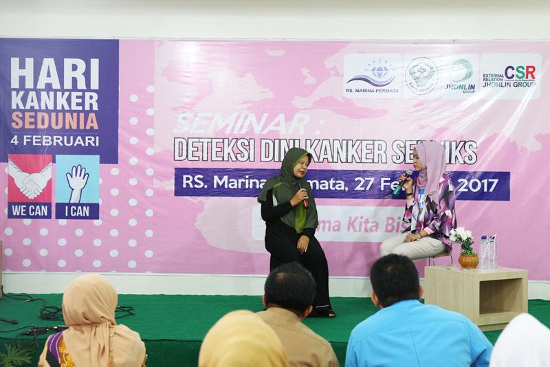 Jhonlin Group, RS Marina Permata, Seminar Kanker Serviks, Cegah Kanker Sejak Dini